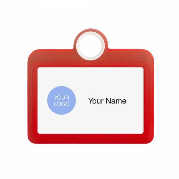 Porta badge colorato rosso orizzontale 85x54