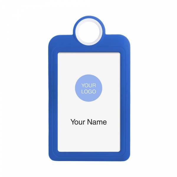 Porta badge colorato blu verticale 54x85