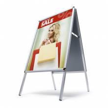 Cavalletto pubblicitario 70x100 profilo 25mm e angoli tondi