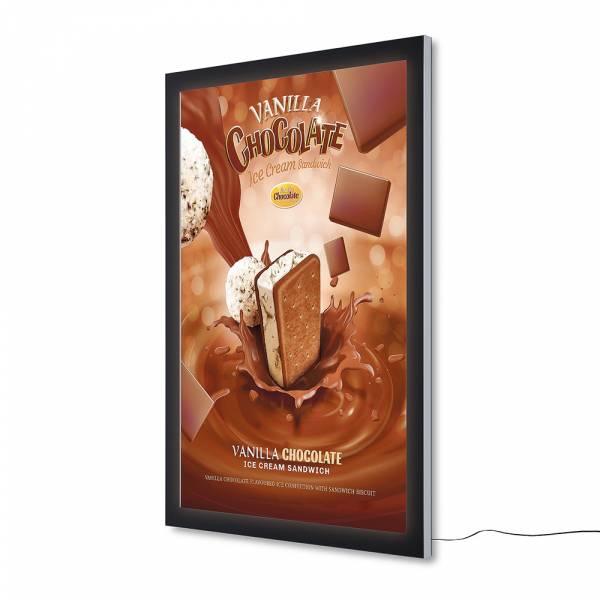 Bacheca da esterno a LED per poster certificata IP56 Premium