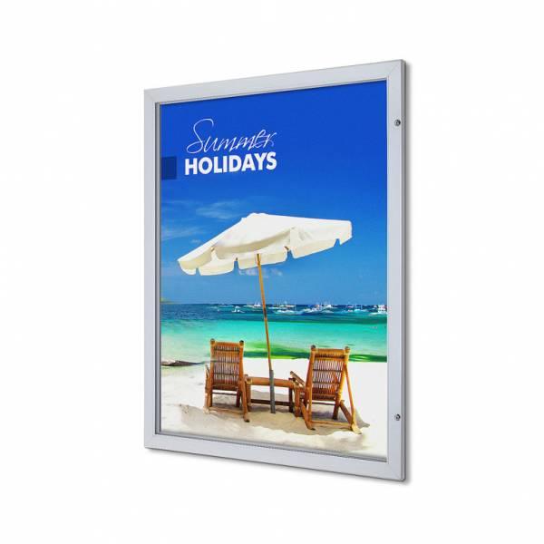 Bacheca porta poster con serratura 53mm Premium