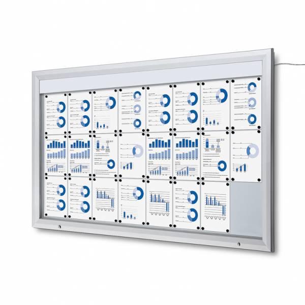 Bacheca da esterno a LED formato 24xA4