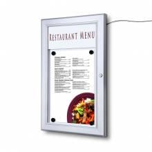 Bacheca porta menu da esterno 1xA4 con logo, a LED