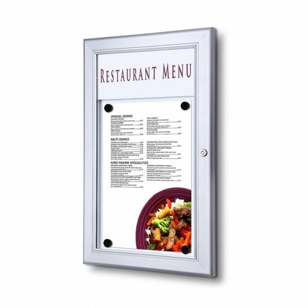 Bacheca porta menu da esterno 1xA4 con logo