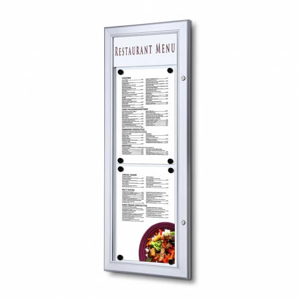 Bacheca porta menu da esterno 2xA4 verticale con logo