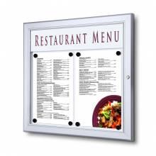 Bacheca porta menu da esterno 2xA4 con logo