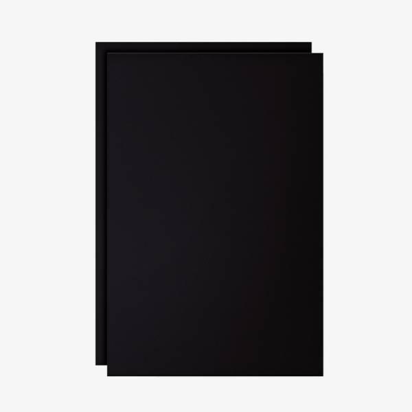 Set di 2 fogli neri scrivibili