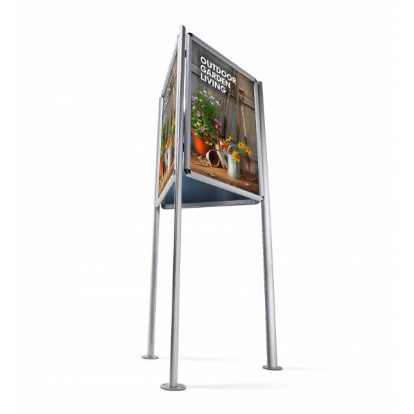 Porta Poster a 3 facce A1 Triboard, Cornici a Scatto 32mm