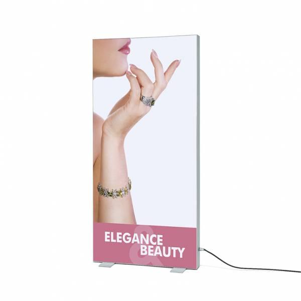 Totem in tessuto T-Frame a LED, profilo 120 mm, 100x200 cm