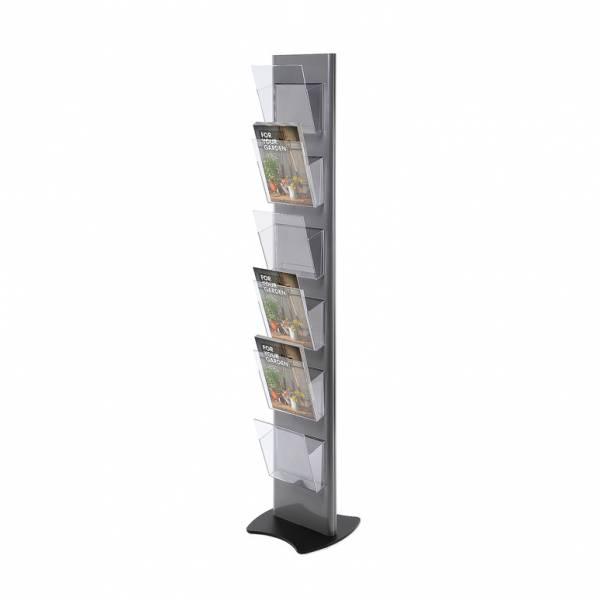 Portadepliant da terra Torre grigio con 6 tasche A4