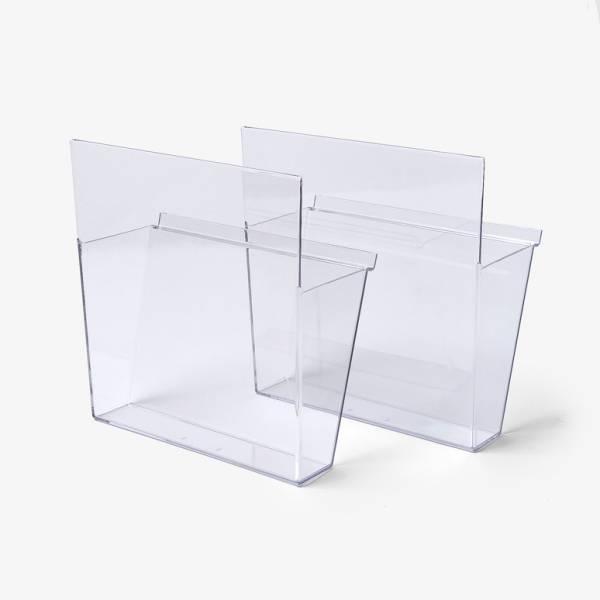 Coppia di tasche portadepliant A4 trasparente Vision per TORRE, TRYS, BRT, BRW