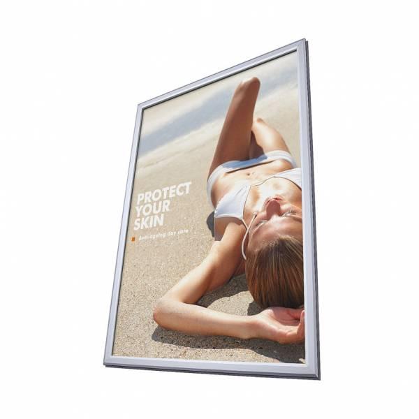 Cornice a scatto a vetrina A1 profilo 25 mm e angoli vivi