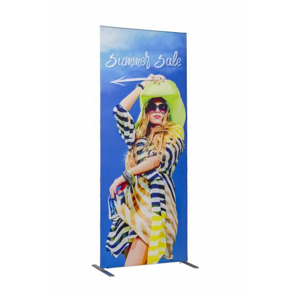 Banner in tessuto Print Slim con stampa