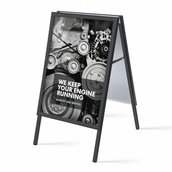 Cavalletto pubblicitario A1 colore nero, 32mm e angoli vivi