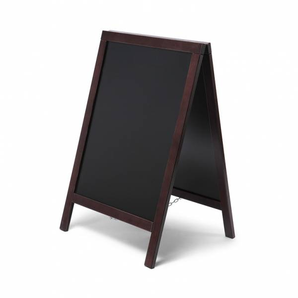 Wooden A-board economy 55x85, dark brown