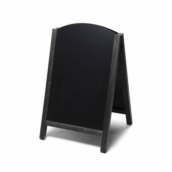 Lavagna con cavalletto stondata estraibile 55x85 colore nero