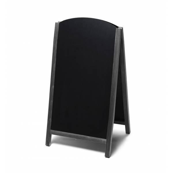 Lavagna con cavalletto stondata estraibile 68x120 colore nero