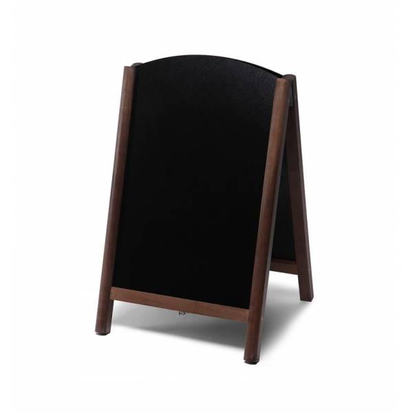Lavagna con cavalletto stondata estraibile 55x85 colore marrone scuro