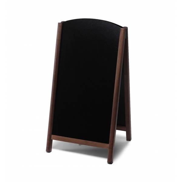 Lavagna con cavalletto stondata estraibile 68x120 colore marrone scuro