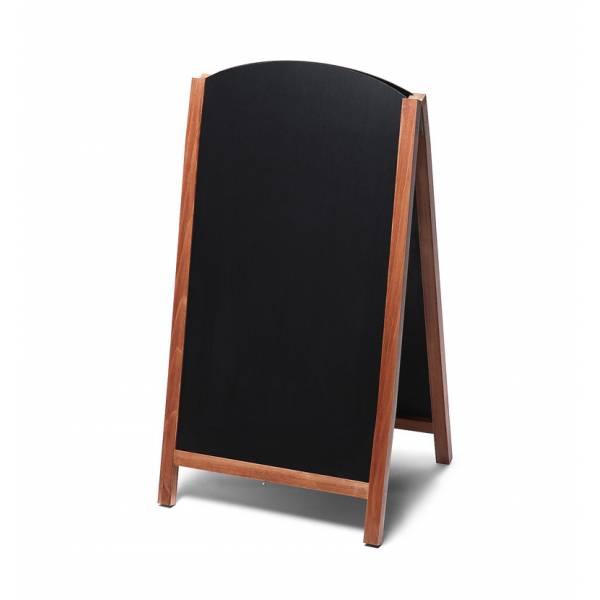 Lavagna con cavalletto stondata estraibile 68x120 colore teak