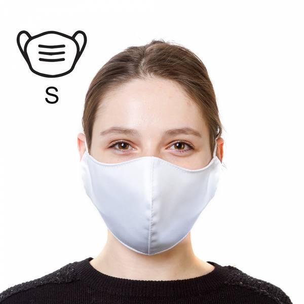 Mascherina protettiva in cotone - Taglia S colore bianco, conf. 5 pezzi