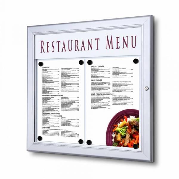 Bacheca porta menu da esterno con logo